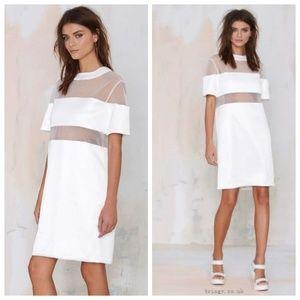 Solace London Paige Paneled Mini Dress
